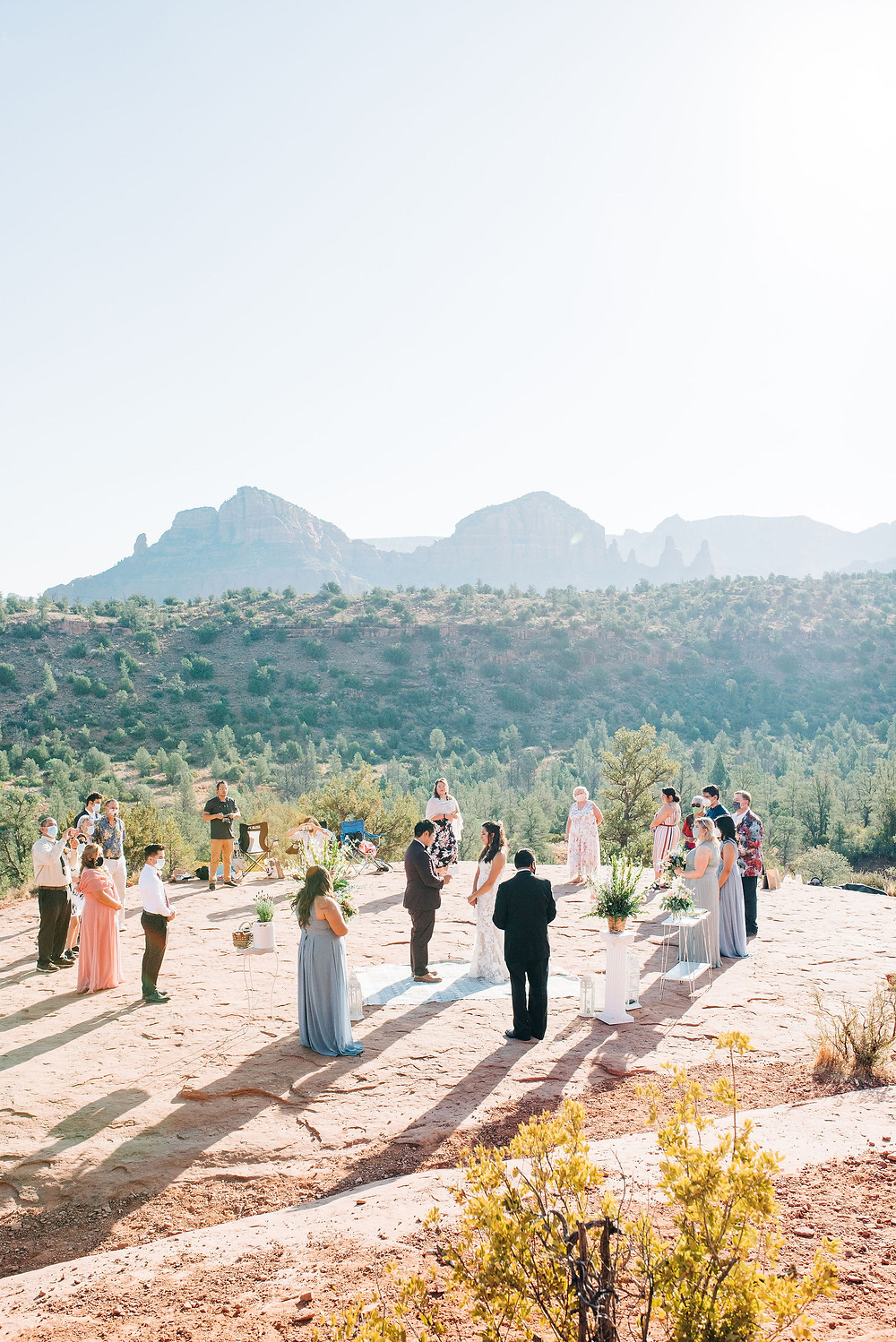 cover bride gets married at cathedral rock