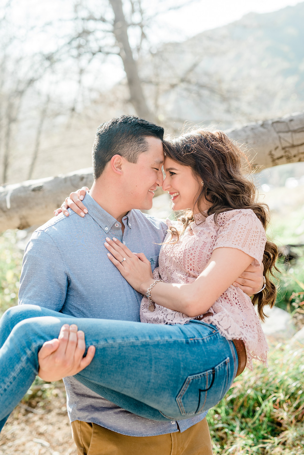 Mountain Engagement Session in Angeles National Forest
