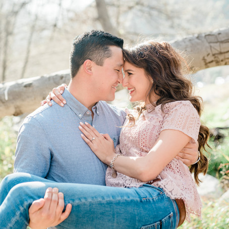 Mountain Engagement Session in Los Angeles National Forest
