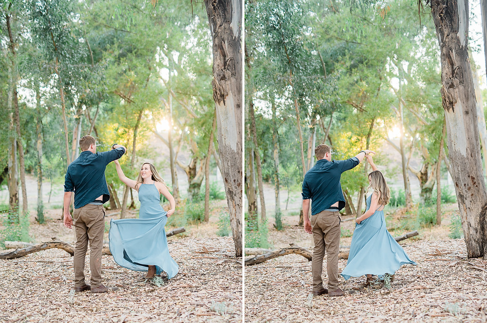 dress twirl in the forest of murrieta california.