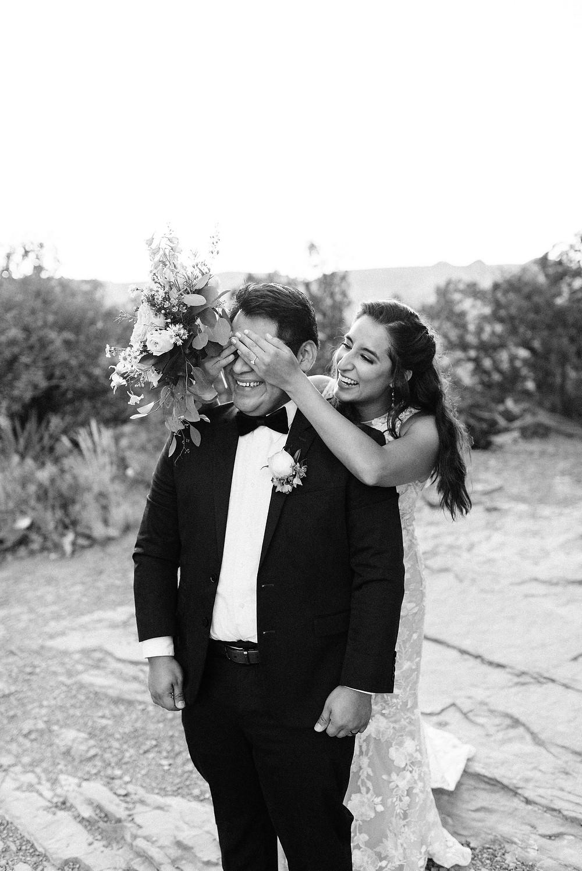 first look cathedral rock Sedona Arizona elopement