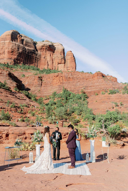 Sedona wedding ceremony at sunrise cathedral rock