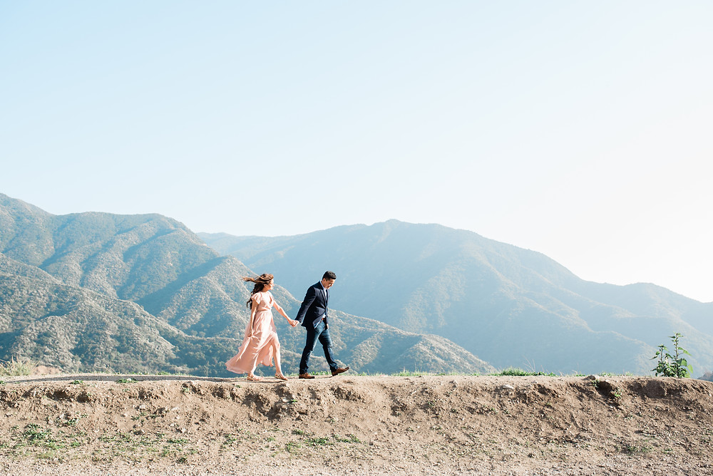 azusa engagement session in the los Angeles forest