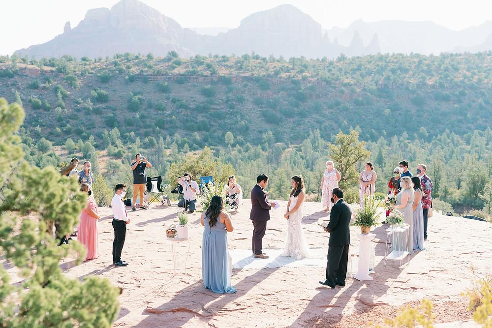 Sedona elopement wedding ceremony
