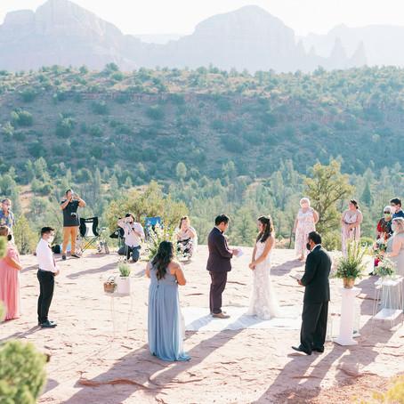 Deanna and Noe Sedona, AZ: Cathedral Rock Adventure Elopement