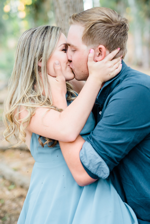 passionate kiss of couple in Murrieta.