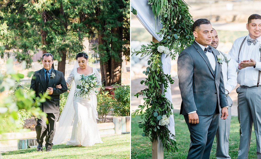 groom sees bride for first time at san moritz lodge