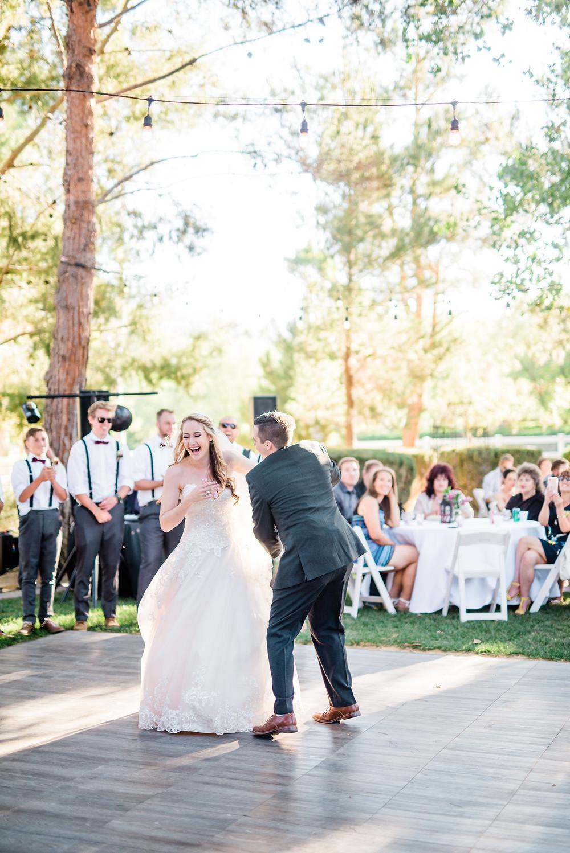 bride and groom first dance Murrieta