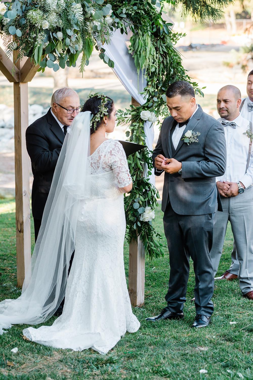 adventure bride marries groom in Lake Gregory location
