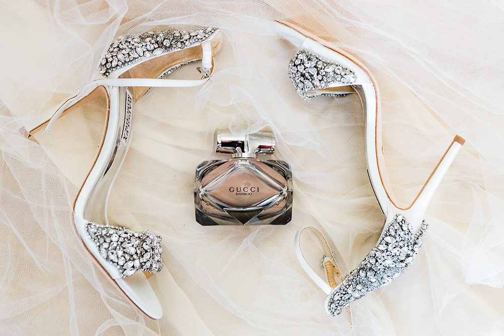 Gucci perfume with wedding shoes