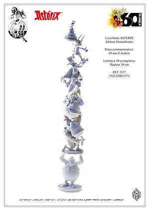 La colonne des 60 ans d'Astérix monochrome