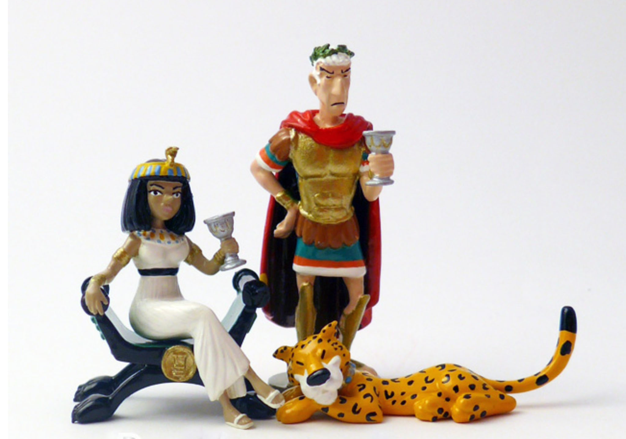 Cléopatre, César et la panthère