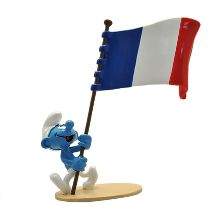 PIXI ORIGINE III – LE SCHTROUMPF PORTE-DRAPEAU FRANÇAIS