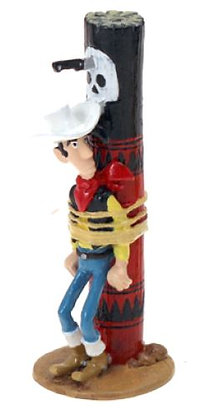 LUCKY LUKE ATTACHE AU POTEAU DE TORTURE - ORIGINE LUCKY LUKE