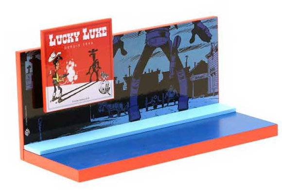 PRESENTOIR BOIS ORIGINE LUCKY LUKE