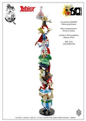 La colonne des 60 ans d'Astérix polychrome