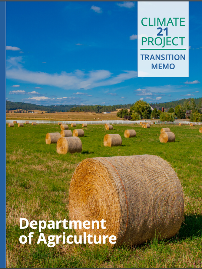 Transition Memo: Department of Agriculture