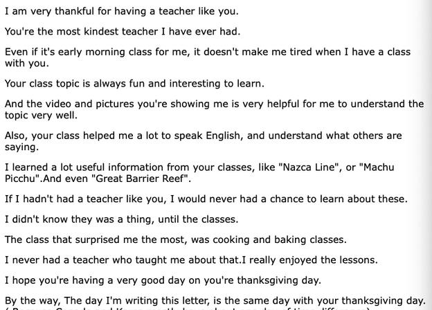 To Kristina, From Lena