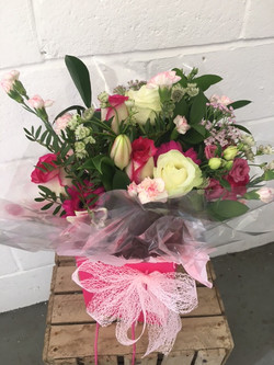 pink cerise hand tied