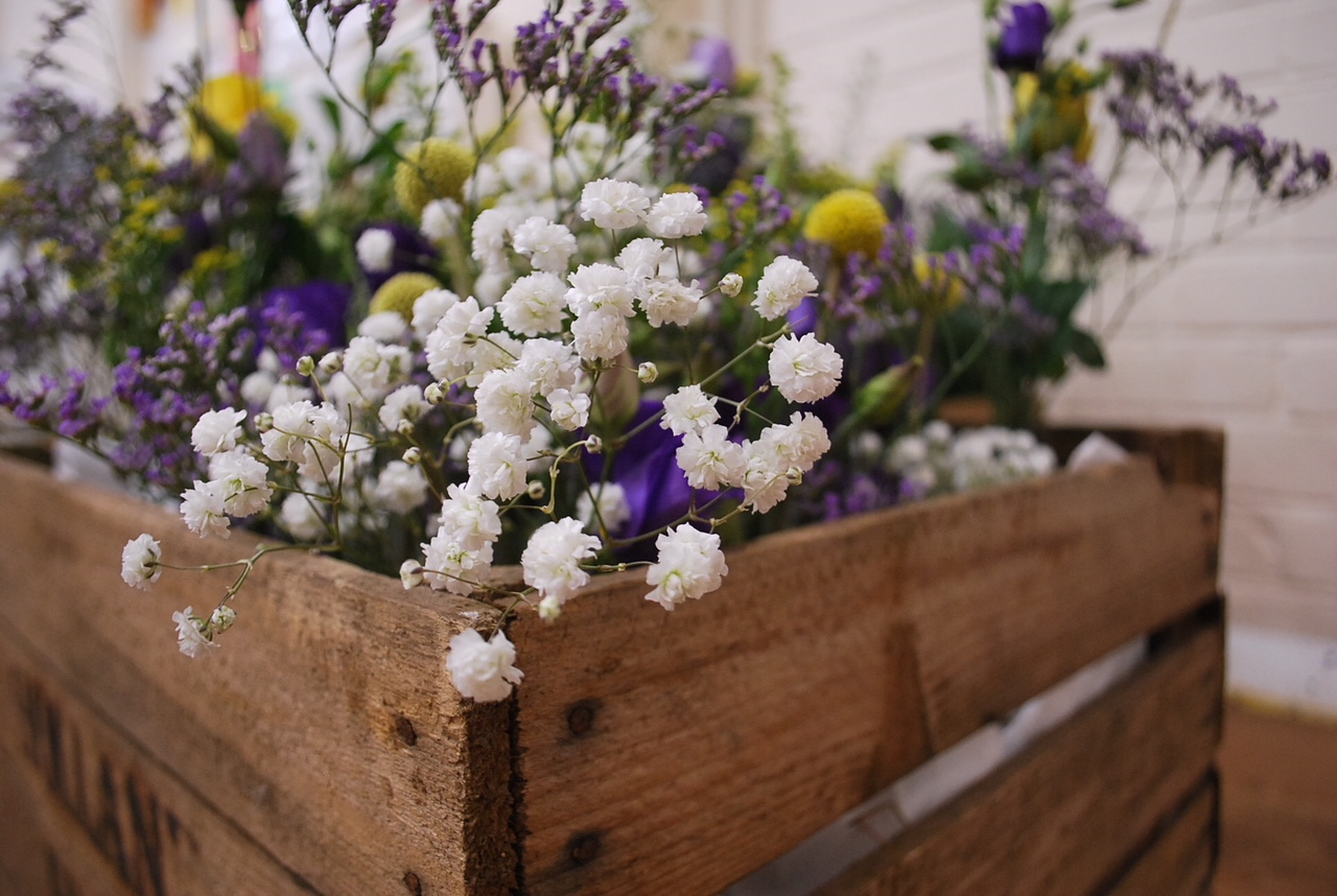 Crate flowers