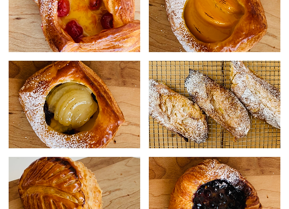 6 Assorted Danishes