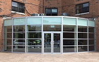 Radius Curtain Wall Entrance