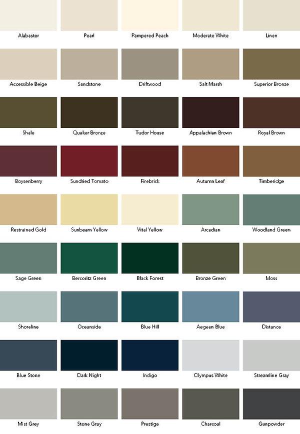 Weather Shield Designer Paint Colors