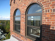 Aluminum Double Hung with Round Top Picture Window