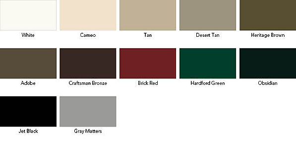 Weather Shield Standard Paint Colors
