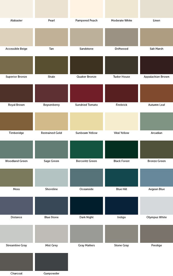 Weather Shield Color Options