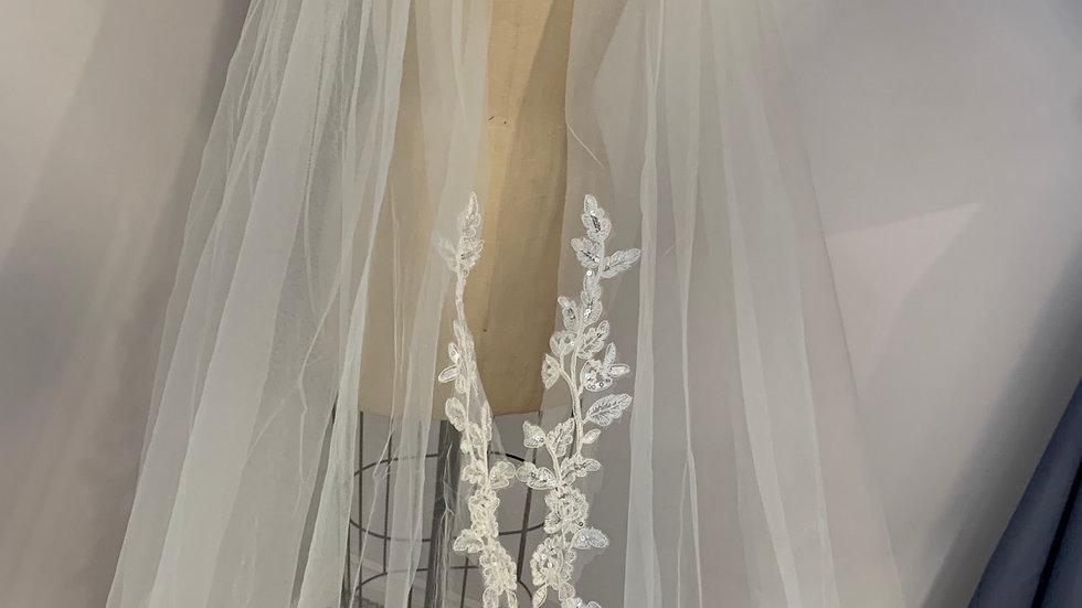 Custom made wedding cape
