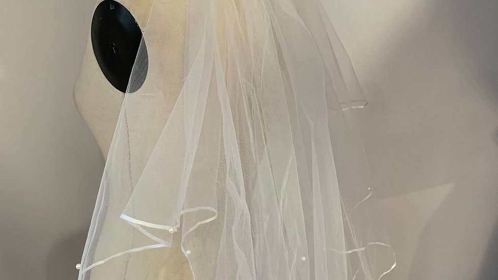 Two tier wedding veil