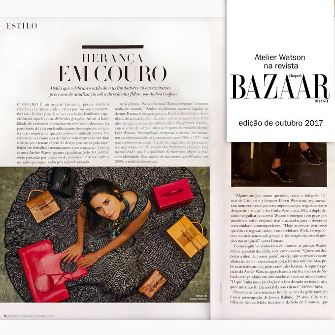 """Estamos na matéria """"Herança em couro"""" da Revista Harper's Bazaar"""