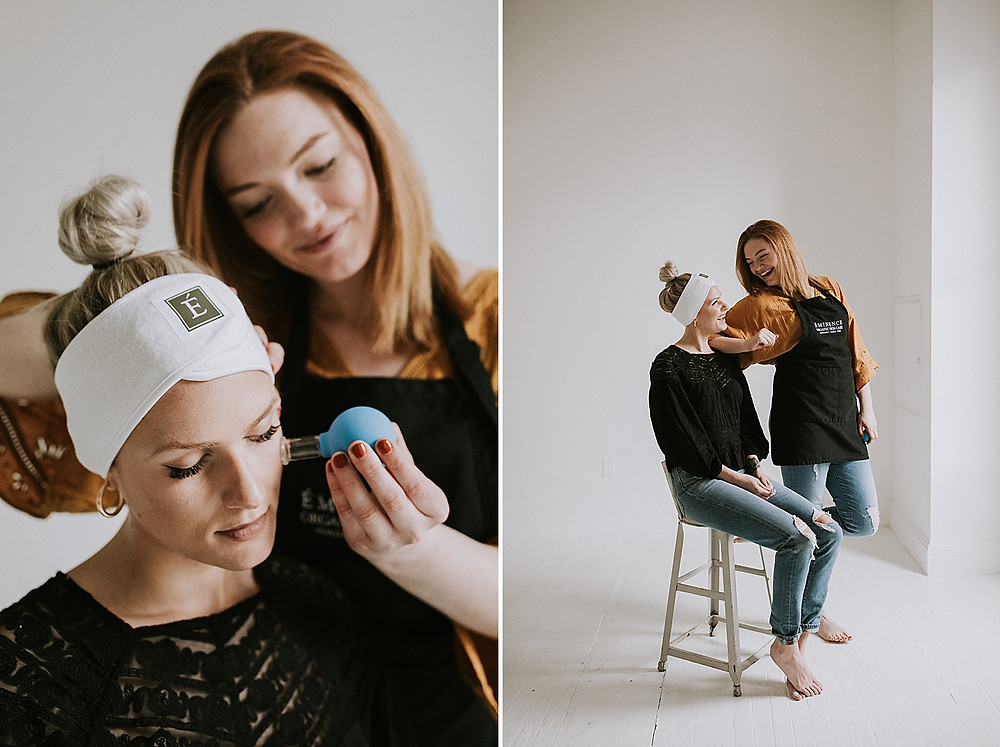 Skin care product photography
