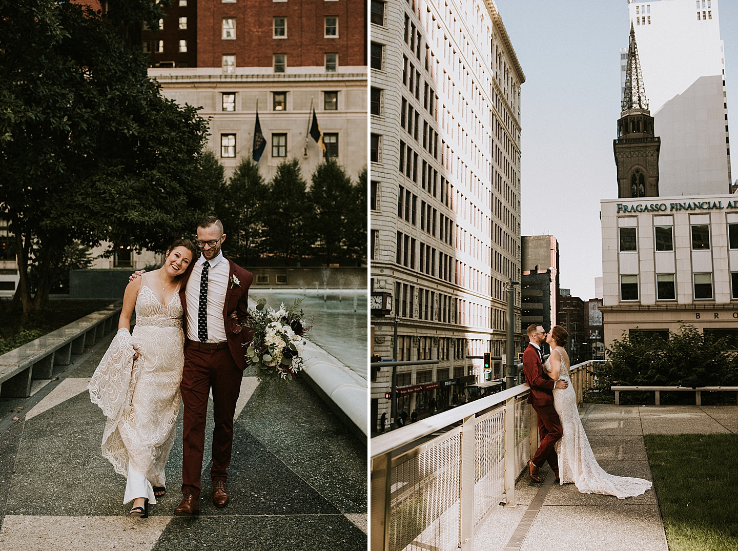 Rooftop wedding photos in Pittsburgh