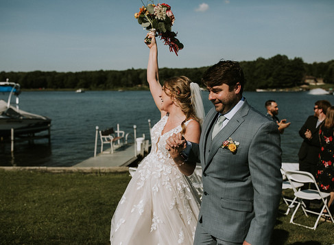 kristina & brad married @ indian lake