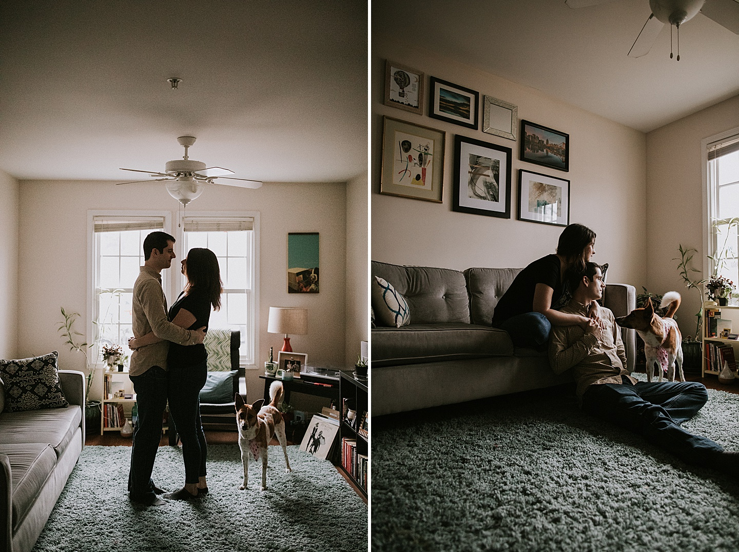 At home engagement session