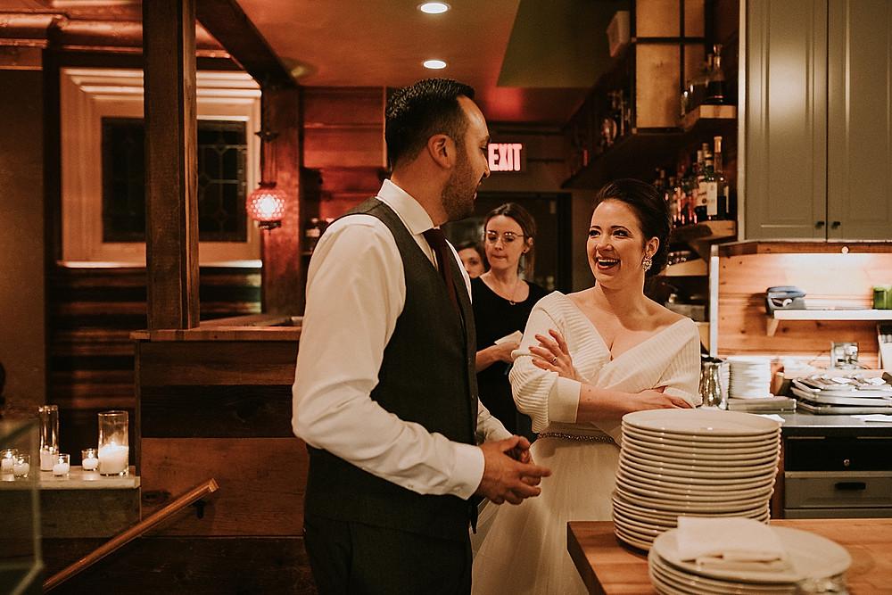 Pittsburgh wedding reception at restaurant