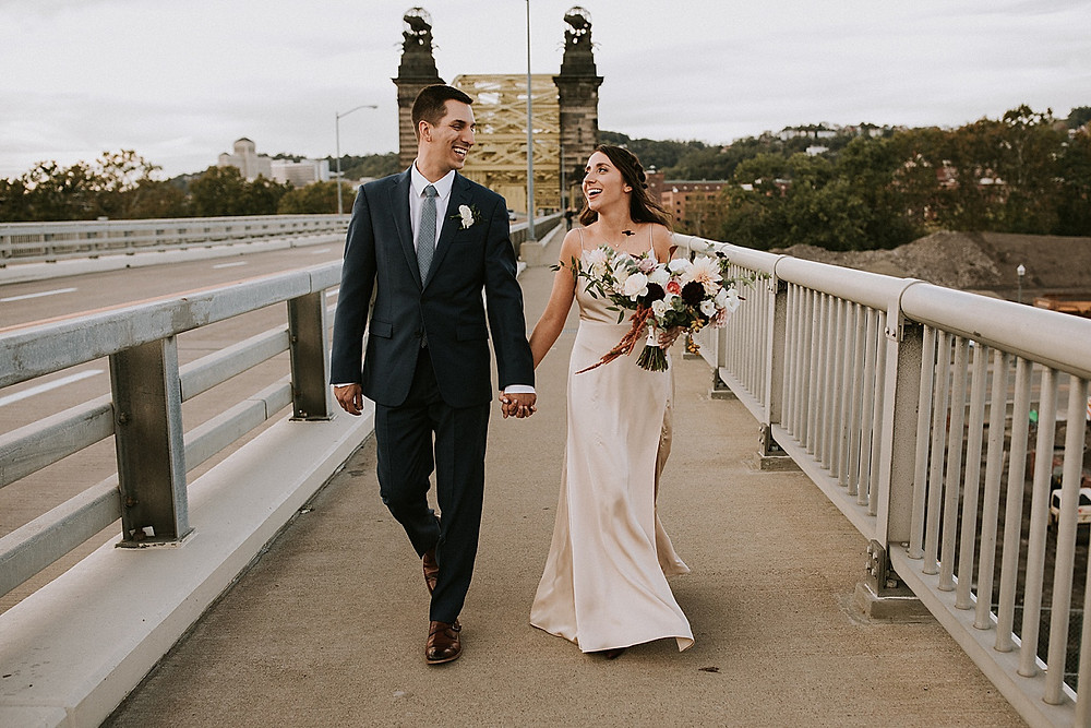 Pittsburgh bridge photos wedding