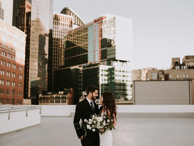 Rooftop wedding pictures