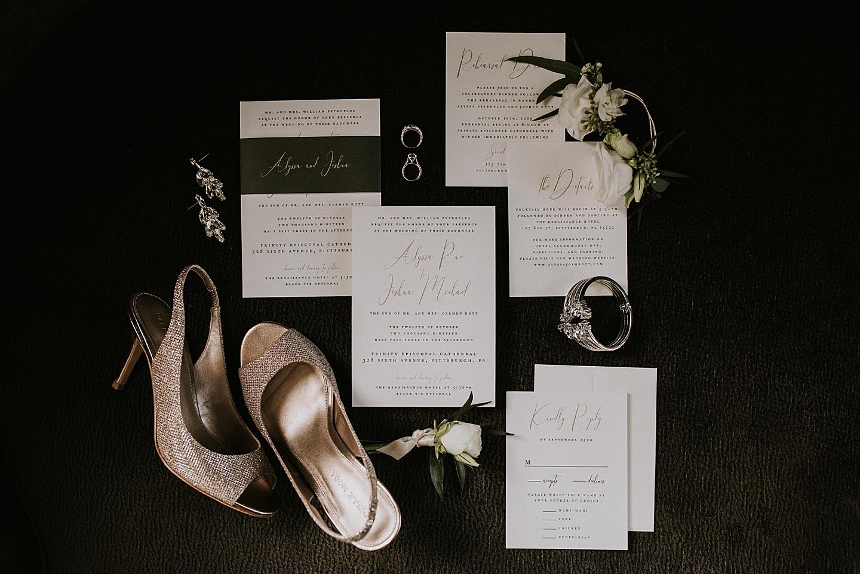 Wedding invitations styling