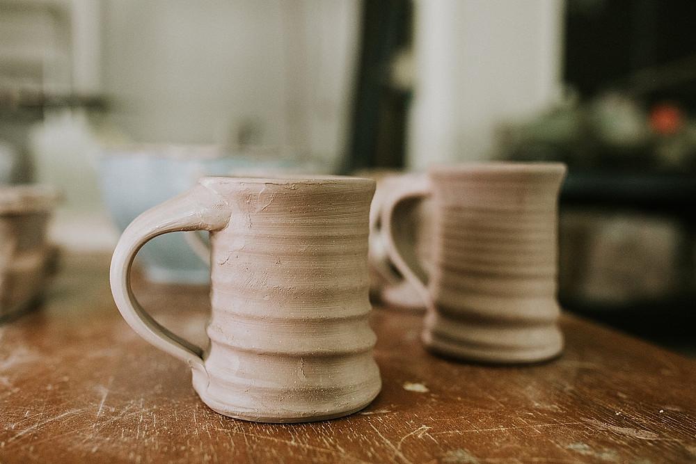 Ceramic mug detail