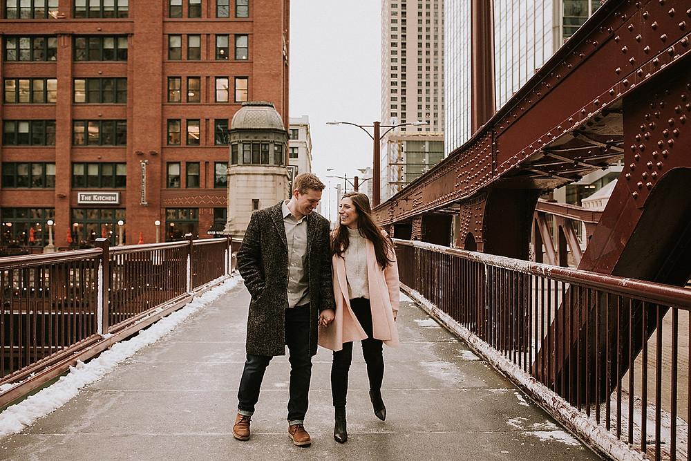 Bridge in downtown Chicago