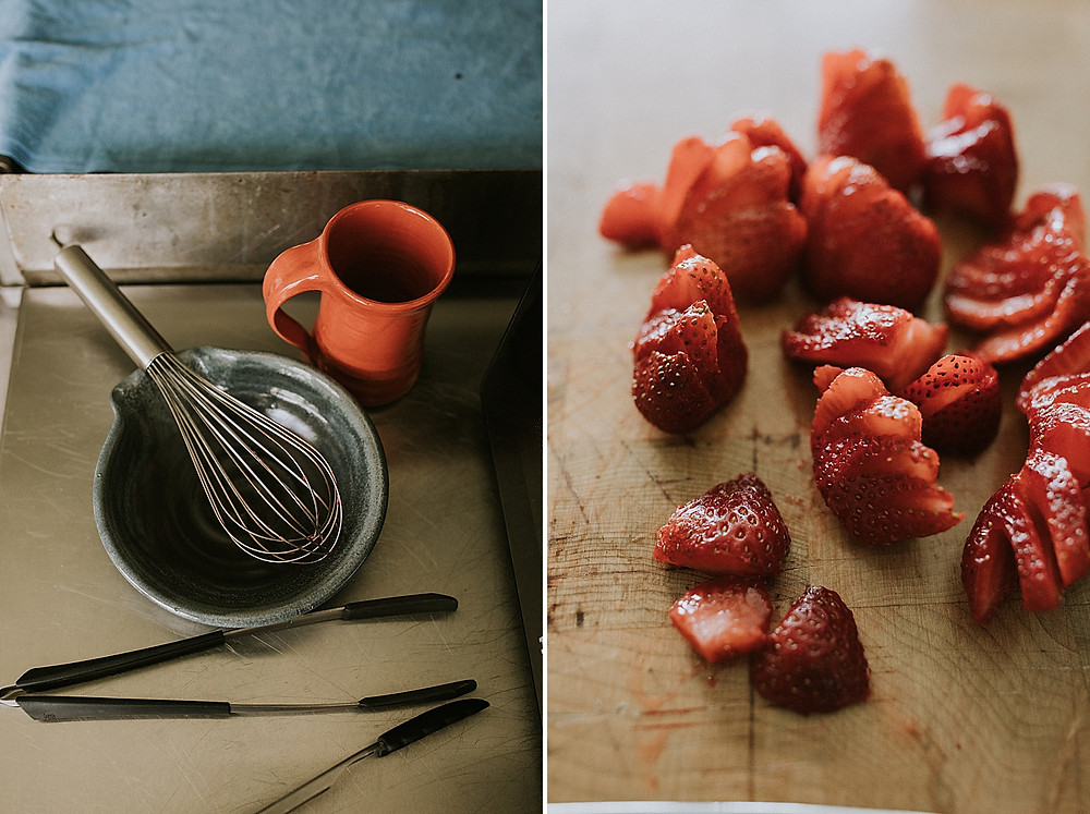 Cooking with strawberries