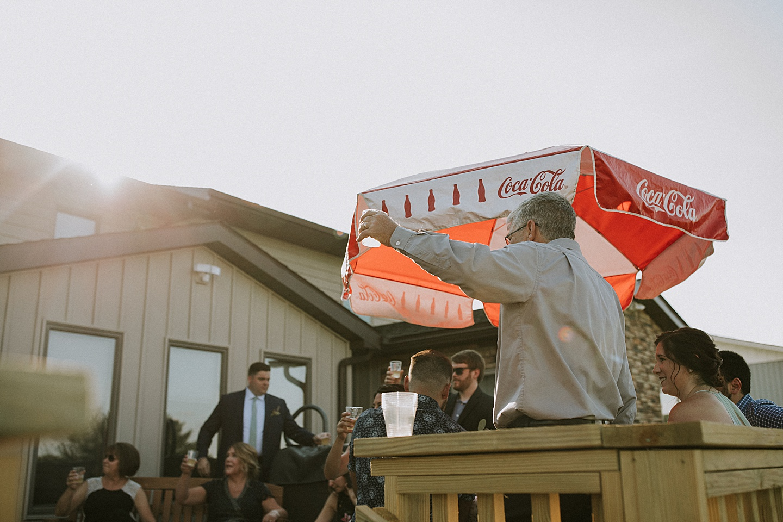 Toasting at wedding