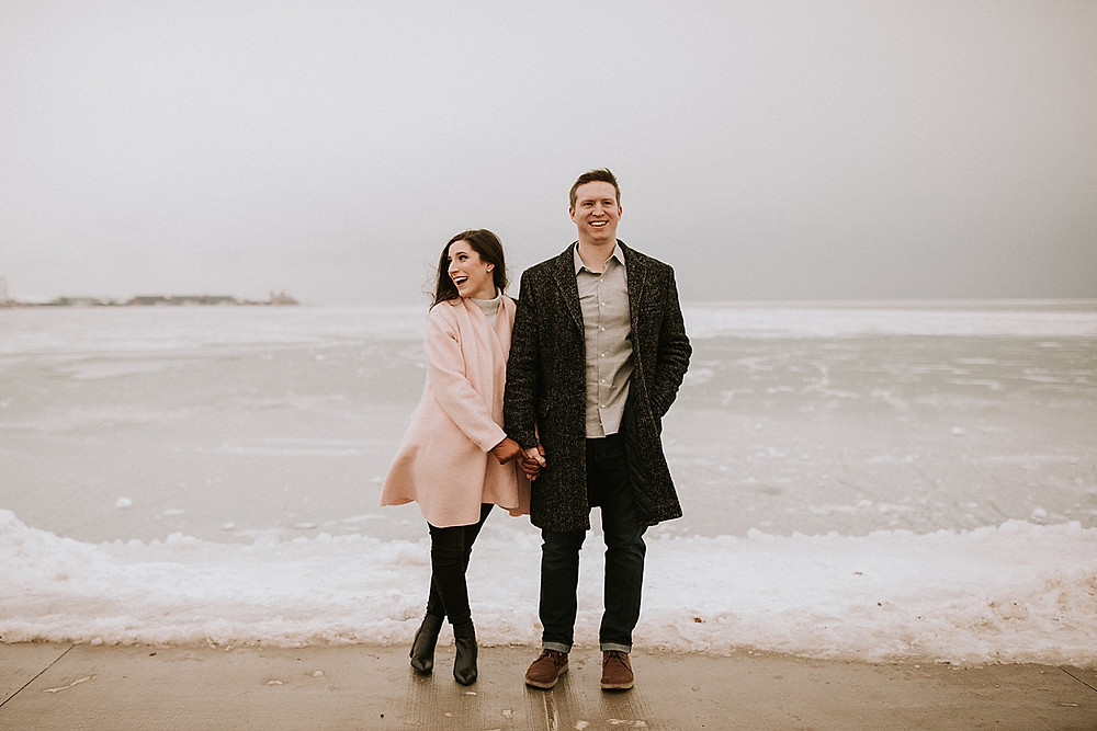 Chicago engagement portraits in February