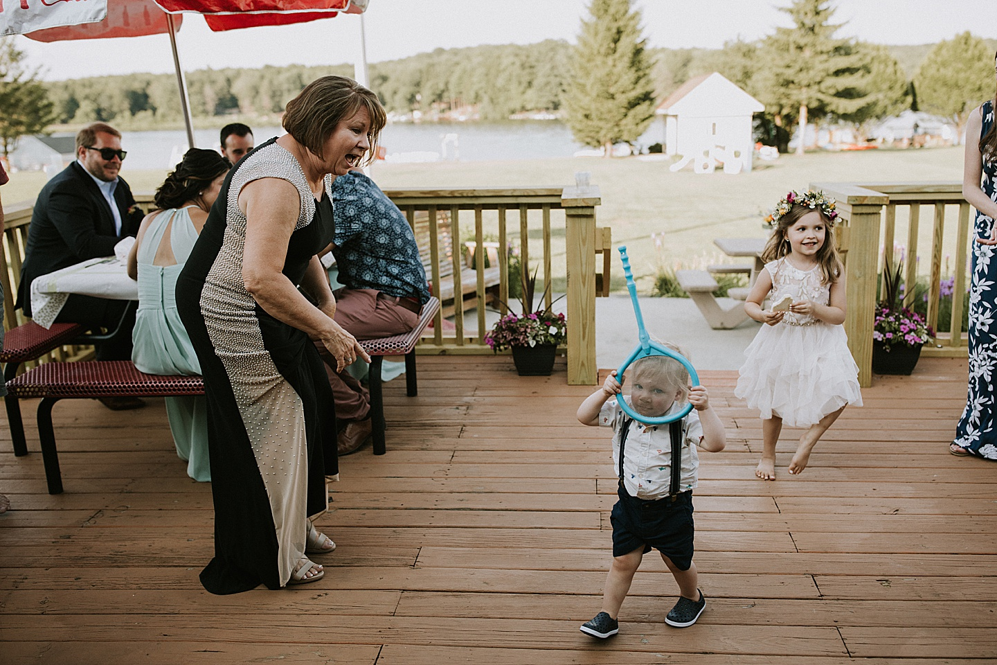 Kids being funny at wedding