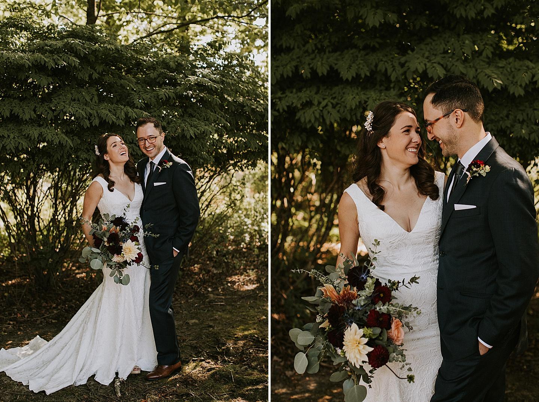 Small backyard wedding in Pittsburgh