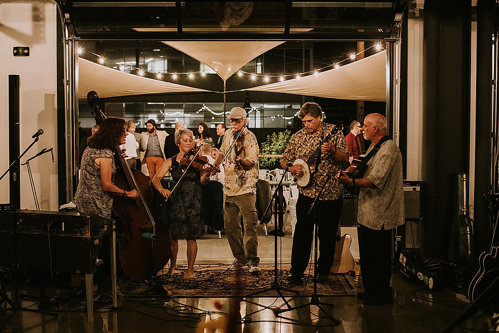 Bluegrass band at Pittsburgh wedding