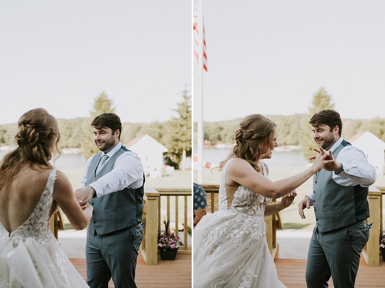 Pittsburgh backyard wedding first dance